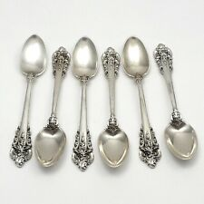 Wallace Grand Baroque Demitasse Spoons Sterling Silver Set Of 6