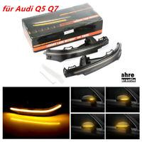 LED Blinker Spiegelblinker Blinkleuchte Dynamische Laufblinker für Audi Q5 Q7