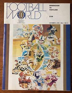 RARE 1974 WFL World Football Program Birmingham Americans vs Portland Storm