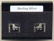 Roller Skates Sterling Silver 925 Studs Earrings Carded