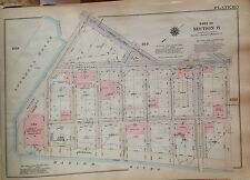 1925 Baker Field Columbia University Manhattan Nyc G.W. Bromley Atlas Map 12X17
