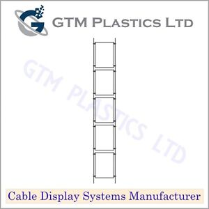 Cable Window Estate Agent Display - 1x5 A4 Portrait - Suspended Wire Systems