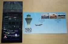 2011 Malaysia 100 Years of Aviation, Airplane 3v Stamps FDC (Melaka Cachet)