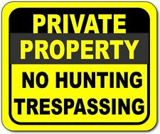 Private Property No Hunting Trespassing Metal Outdoor Sign Long Lasting