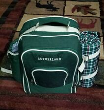 Picnic Backpack Sutherland Insulated 2 Person Settings Camping Hiking