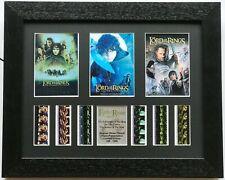 More details for lord of the rings - triple presentation v2 original filmcell memorabilia coa