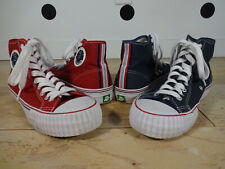 (2 Pairis) PF FLYERS Posture Foundation Hi Top Sneakers Sandlot Red Blue Size 9