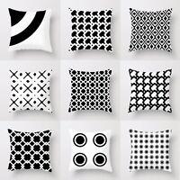 3D Digital Print Printing Cushion Cover Black And White Design Home Sofa Decor