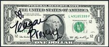 TEAGAN PRESLEY PORN STAR SIGNED UNCIRCULATED ONE DOLLAR BILL ADULT MOVIE ACTRESS