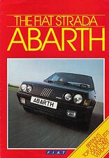 FIAT STRADA ABARTH OCT.85 BROCHURE.