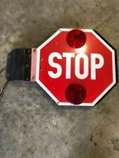 SCHOOL BUS SAFETY STOP SIGN SWING ARM DOUBLE SIDED FREE SHIPPING!!!!!