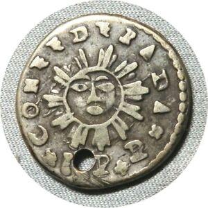 elf Argentina Cordoba Province 1 Real 1843 Shield  Sunface  Silver