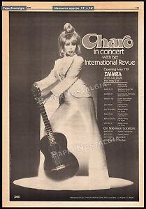 CHARO In Concert__Original 1980 Trade AD promo / poster__SAHARA HOTEL, LAS VEGAS
