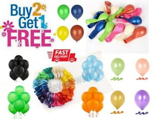 "20 X Latex PLAIN BALOON BALLONS helium BALLOONS 12"" inch Party Birthday Wedding"
