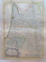 Francia; LATTRÉ / BONNE, R. Carte du Gouvernement de Guienne et Gascogne Mappa