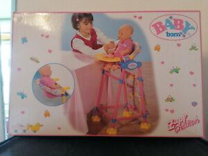 Baby Born - Hochstuhl inkl Sitz für den Tisch - Vintage in OVP