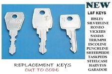 RONIS  KEYS CUT TO CODE NUMBER - OFFICE FURNITURE - DESK REPLACEMENT KEYS