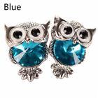 Fashion Women Lady Girls Crystal Rhinestone Owl Ear Stud Earrings Jewelry Gifts