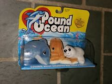 Galoob POUND OCEAN DOLPHIN, OCTOPUS & SEAL -  New in Sealed Box!! 1998