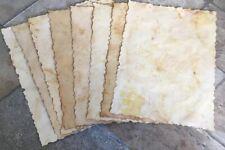 1 x A4 Hand Dyed Antique Vintage Parchment Style Paper, Magical Letter, Crafts