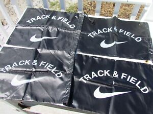 Lot Of 4 NIKE Track & Field drawstring bag shoes spikes black white Swoosh tote