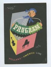 1955 'What to Buy in Our Ports of Call' Program - Holland America Line