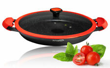 Paella Pan with Lid Heavy Duty 36cm Non Stick Ceramic Coating German Standards