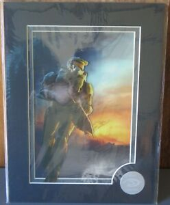 HALO 3 MASTER CHIEF LIMITED EDITION MYLAR PRINT #133 OF 500 BUNGIE