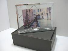 "NEW Umbra Photo Display Prisma Picture, Art Photo Frame Silver Chrome 4"" x 6"" ."