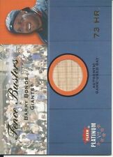 Barry Bonds 2002 Fleer Platinum Fence Busters Bat Card