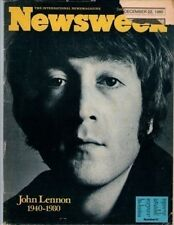 John Lennon on Newsweek Magazine Cover December 1980