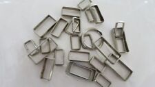 Chrome Plate Rectangle Ring Buckles Strap Loop Bags Belt