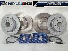 BMW E36 M3 EVO FRONT REAR DIMPLED GROOVED BRAKE DISC DISCS MEYLE PADS SENSORS