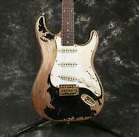 Heavy Relic Handmade Electric Guitar Tremolo Bridge Alder Body Big Sale