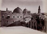 Gerusalemme Israele Palestina Foto Albumina Stampa Verso 1890 Piccolo Formati
