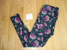 LULAROE ~ Tall & Curvy TC LEGGINGS ~ Flowers Floral Print ~ Valentine's Day