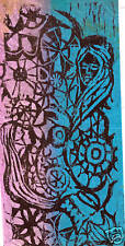 FANTASY  by RUTH  FREEMAN WOODCUT 5 3/4 X 12 1/2
