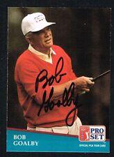 Bob Goalby #241 signed autograph auto 1991 Pro Set Golf Trading Card