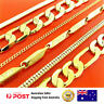 Gold Necklace Chains Real 18k Yellow & White G/F Solid Bead Curb Link Design