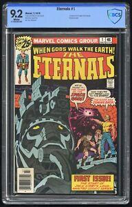 Eternals #1 CBCS 9.2 (Marvel 7/76) Origin & 1st app Eternals, Devaints, & Ikaris