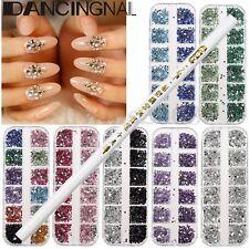 3000 3D Ongle Bijoux Strass Cristal Sticker Perle Glitter Nail Art + Dotting Pen