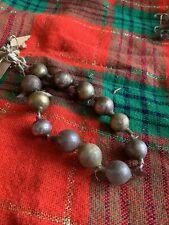 Vintage Handmade Blown Glass Bead Christmas Garland