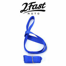 "2FastMoto 18"" Blue Soft Tie Down Extension Straps 2pk Snowmobile Arctic Cat"