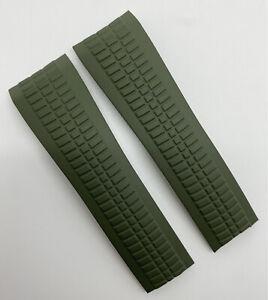 Authentic Patek Philippe Aquanaut 22mm x 18mm Khaki Green Rubber Watch Strap OEM