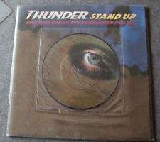 Thunder, stand up / interview, SP - 45 tours picture disc + poster geant
