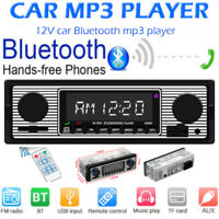 Single 1Din Car Stereo MP3 Player FM Radio Bluetooth 4.0 USB AUX TF Head Unit