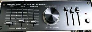 Realistic Model MPA-40 35 Watt Public Address Amplifier stereo PA system P.A.
