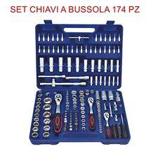 Set Chiavi Combinate a Cricchetto 174 Pz Chiavi a Bussola con inserti EN-29058
