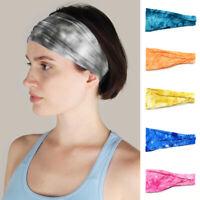 Unisex Sports Yoga Gym Stretch Cotton Headband Sweatband Wide Head Hair Band