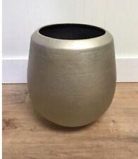 Champagne Ceramic Planter Gold - Opalhouse